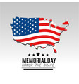 usa map and flag to memorial day vector image