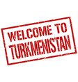 welcome to turkmenistan stamp vector image vector image