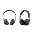 wireless headphones set vector image vector image