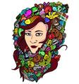 Woman doodle art vector image vector image