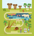 animals and people vector image