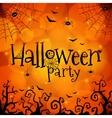 Halloween party orange greeting card vector image