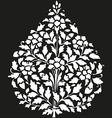 Symmetric blooming plant with flowers and leaf vector image
