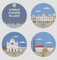 World famous places vector image