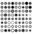 Collection of 72 ornate stars icons vector image