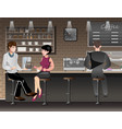 people sitting in bar or pub vector image