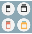 Set of flat medicine bottles vintage colors vector image