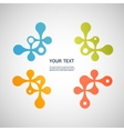 abstract colored molecule on a white background vector image vector image