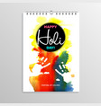 abstract watercolor geometric brochure template vector image