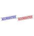 accredited stamps with corroded style and parallel vector image vector image