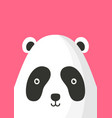 adorable panda bear snout flat vector image vector image