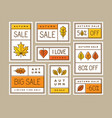 autumn sale labels stickers tags or banners set vector image