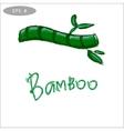 Bamboo logo symbol stylized vector image vector image