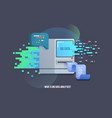 big data computer learning algorithms icon vector image
