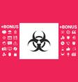 biological hazard sign vector image
