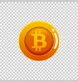 bitcoin cryptocurrency coin icon virtual vector image