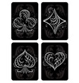 black playing cards vector image vector image