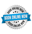 book online now 3d silver badge with blue ribbon
