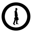 businessman with briefcase step forward man with vector image