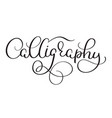 calligraphy word on white background hand drawn vector image vector image