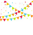 carnival garland with flags vector image vector image