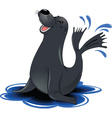 Cartoon seal vector image