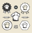 Chef cook vintage hat icon flat web sign symbol