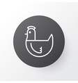 chicken icon symbol premium quality isolated hen vector image