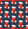christmas stocking pattern vector image vector image