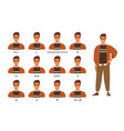 collection male character s lips or mouth vector image