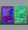 colorful mosaic cover design modern gradients and vector image vector image