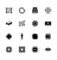 computer chips - flat icons vector image vector image