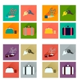 Concept of flat icons with long shadow business vector image vector image