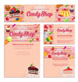 corporate style template with confectionery vector image