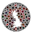covid19 virus hole round great britain map mosaic vector image vector image