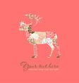 Deer design vector image vector image