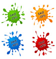 Discount sale pointer as the spilled paint vector image vector image