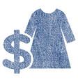 dress price fabric textured icon vector image