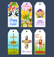 easter holiday greeting tag and gift label set vector image vector image