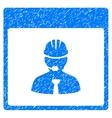Engineer Calendar Day Grainy Texture Icon vector image vector image
