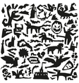 evil doodles vector image vector image