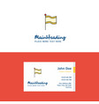 flat flag logo and visiting card template vector image