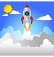Flat rocket icon vector image