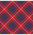 fraser tartan seamless pattern diagonal fabric vector image vector image