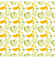 fruit pattern with colorful water apple banana vector image