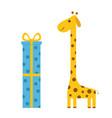 giraffe with spot long neck cute cartoon vector image vector image
