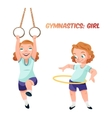 Girl doing gymnastic exercises vector image