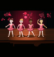 girls in a ballet performance vector image