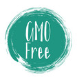gmo free icon natural origination package label vector image