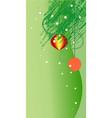green ornate x-mas backdrop vector image vector image
